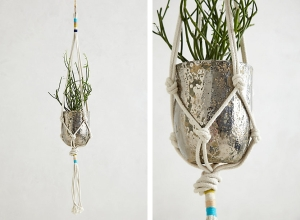 Anthropologie Macrame Planter via Fine and Feathered